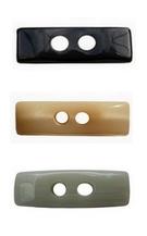 Boutons 2 trous rectangle 37mm LB56